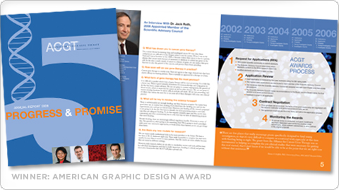 ACGT Annual Report, Winner American Graphic Design Award
