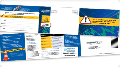 ConEdison Solutions' Caution - Changes direct mail piece